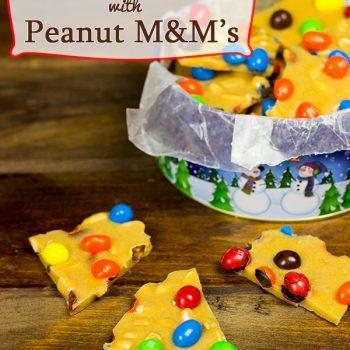 Crunchy Peanut Brittle with Peanut M&Ms #BakingIdeas #shop #cbias