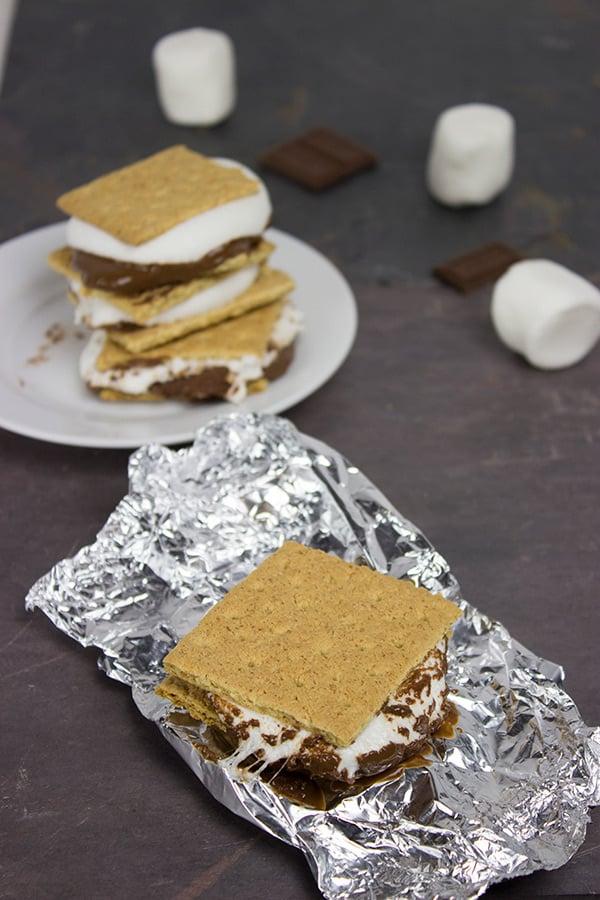 Grilled S'mores | Spicedblog.com