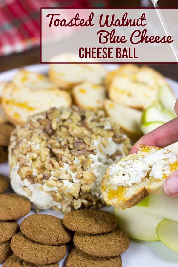 Toasted Walnut Blue Cheese Ball #shop #HolidayAdvantEdge and #cbias