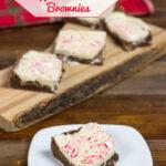 Holiday Baking Idea: White Chocolate Peppermint Bark Brownie Bars