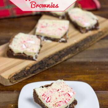 White Chocolate Peppermint Bark Brownie Bars #HolidayAdvantEdge #shop