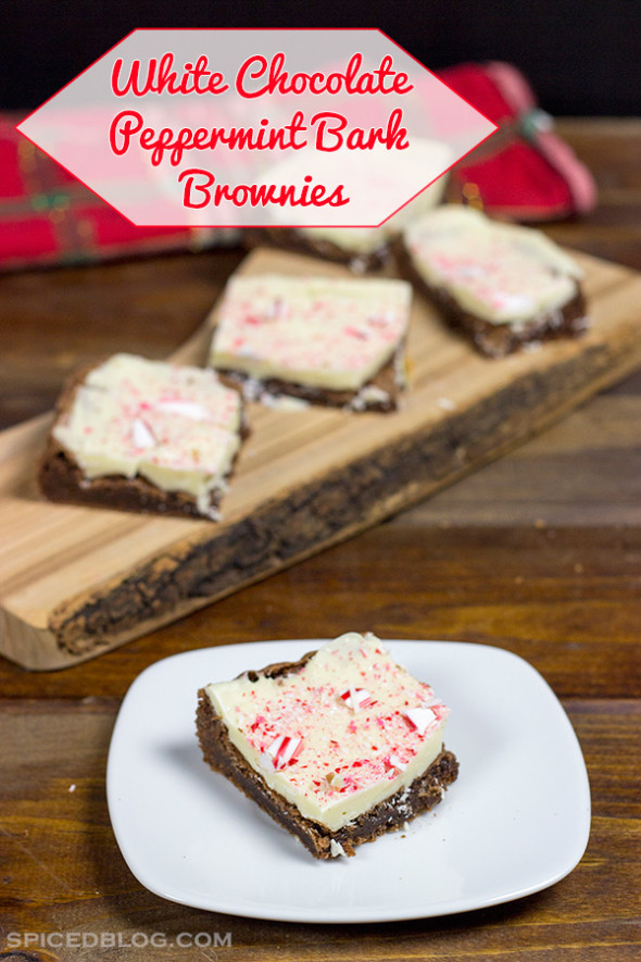 White Chocolate Peppermint Bark Brownie Bars #HolidayAdvantEdge #shop