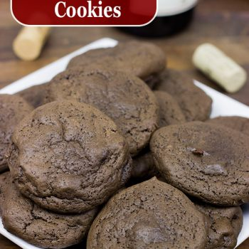 Dark Chocolate Cabernet Cookies | Spicedblog.com