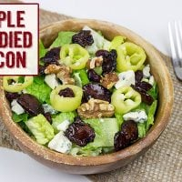 Salad with Maple Candied Bacon