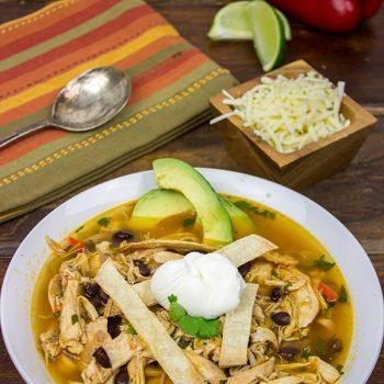 Fiesta Chicken Tortilla Soup | Spicedblog.com