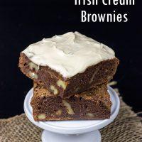 Frosted Irish Cream Brownies | Spicedblog.com