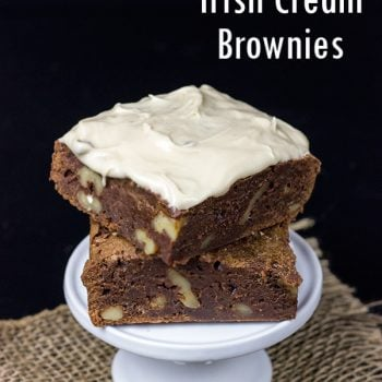 Frosted Irish Cream Brownies | Spicedblog.com