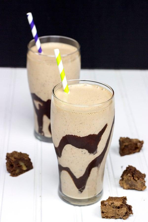 Irish Cream Brownie Milkshake