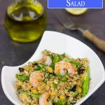 Lemon Shrimp + Quinoa-Lentil Salad