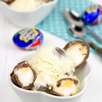 Cadbury Creme Egg Ice Cream | Spicedblog.com