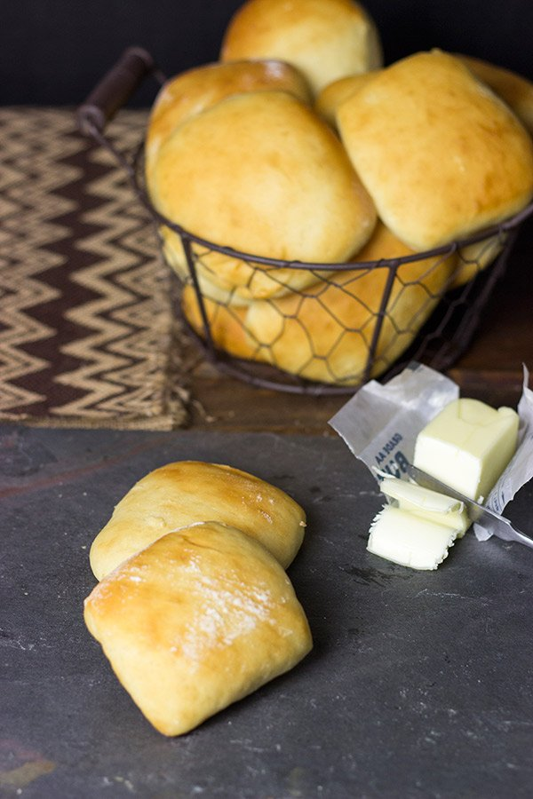 A basket of these warm Easy Yeast Rolls is the perfect addition to any dinner table!