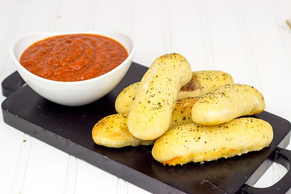Mozzarella-Stuffed Italian Breadsticks