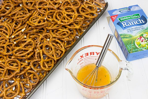 Zesty Ranch Pretzels--Warning: These are really, really addicting!!
