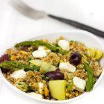 Mediterranean Bulgur Salad with Grilled Flank Steak + Giveaway