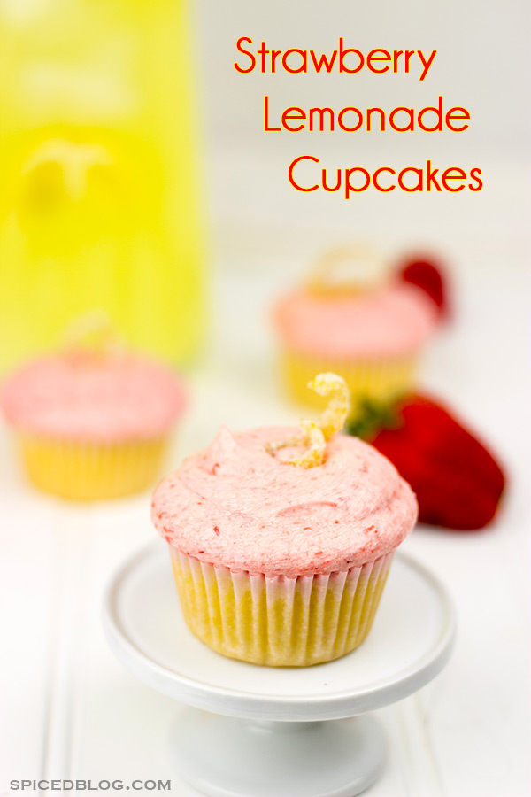 Strawberry Lemonade Cupcakes: These cupcakes are loaded with fresh strawberries and lemon juice to create the perfect summer dessert!