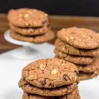 Looking for a fun twist on the classic chocolate cookie?   Dark Chocolate Chip + Hazelnut Cookies   Spicedblog.com