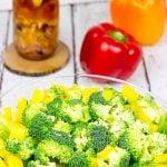 Chopped Vegetable Salad with Tarragon Vinaigrette