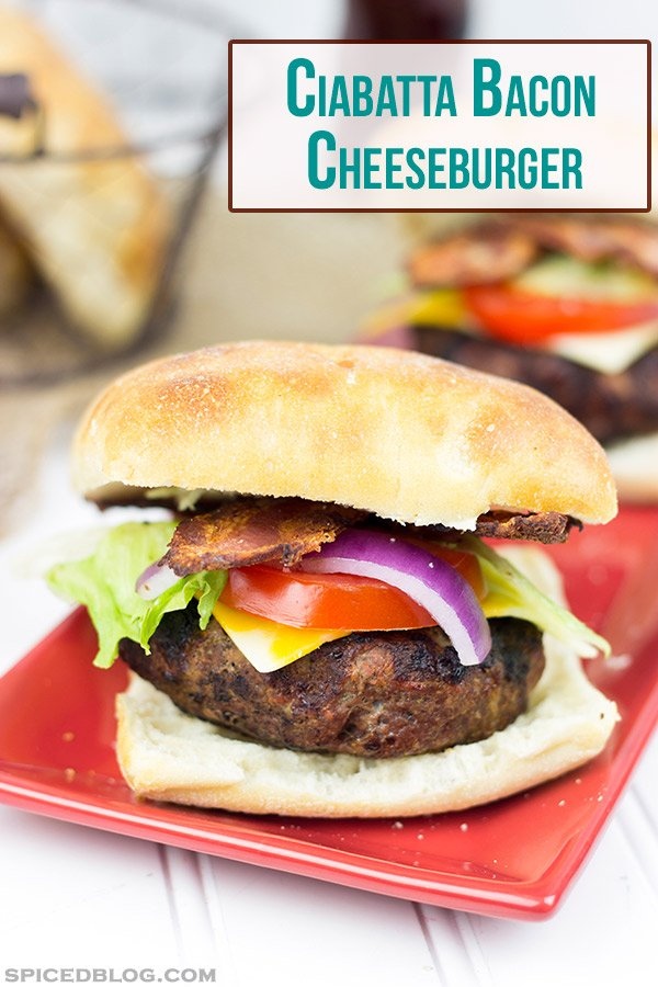 Ciabatta Bacon Cheeseburger | #SayCheeseburger #SoFabCon14