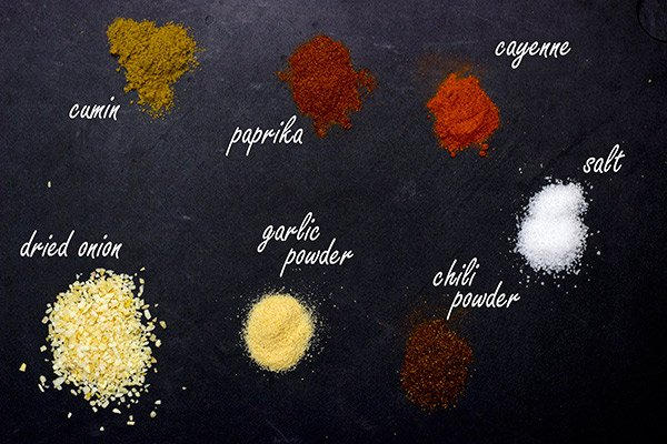 Spices for making Homemade Taco Sauce