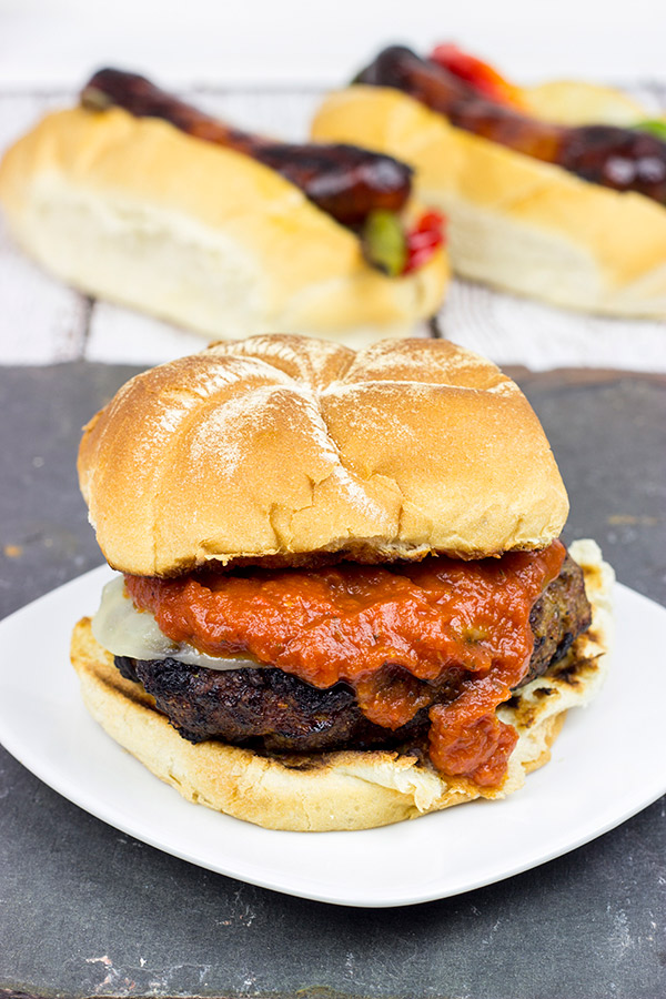 These fun and delicious Italian Meatball Burgers are just like your favorite Italian meatball...only grilled!