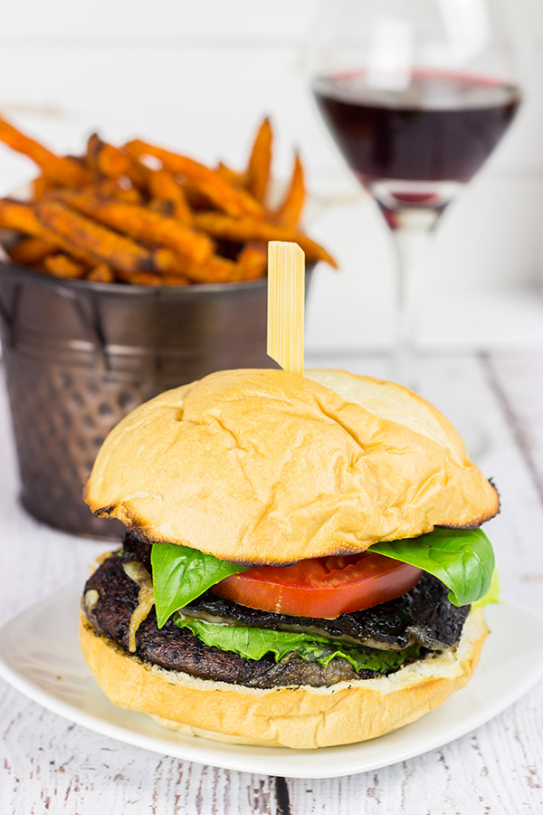 These Red Wine Portobello Burgers are incredibly tasty thanks to a quick (45 minute!) red wine marinade!