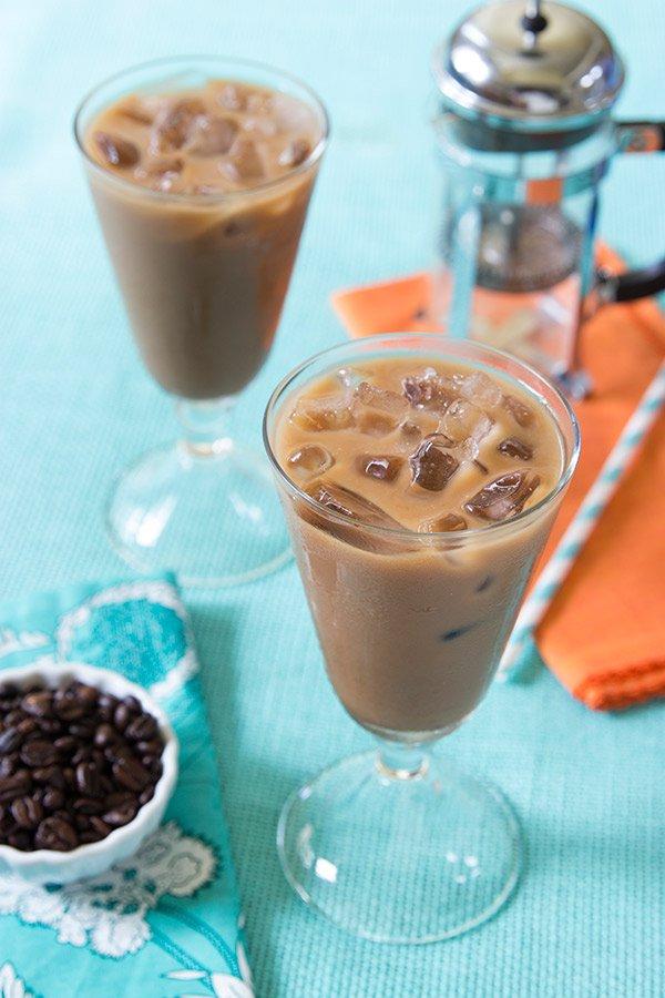 This Salted Caramel Mocha Iced Coffee is incredibly easy to make...and it's the perfect treat on a hot summer afternoon!