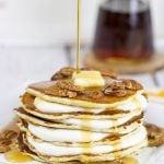 Buttermilk Pancakes with Butter Pecan Cream