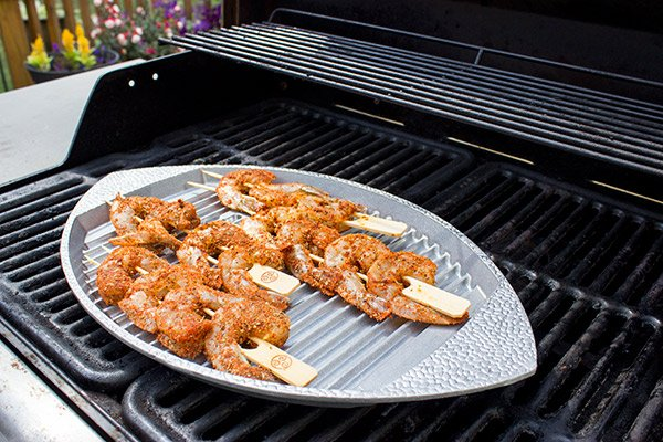 Get tailgating season started off right with this tasty Cajun Grilled Shrimp with Spicy Dipping Sauce!