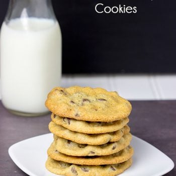 These Soft + Chewy Chocolate Chip Cookies are one of my favorite sweet treats! I dare you to eat just one!