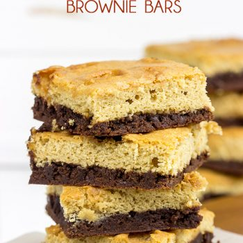 Is it a brownie? Is it a blondie? No, it's both! These Caramel Marshmallow Brownie Bars are a delicious combination of caramel, marshmallow and chocolate!