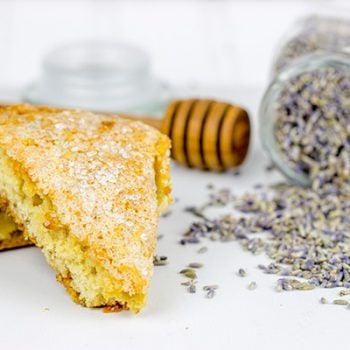 Lightly spiced with lavender, honey and citrus, these Honey Lavender Scones are a delicious treat alongside a cup of coffee!