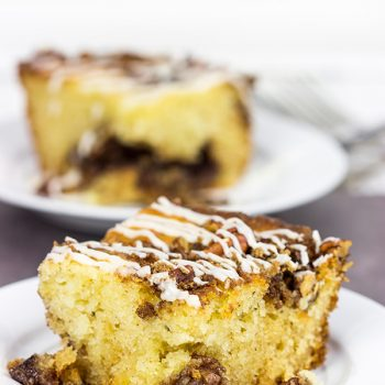 Have guests in town? Make breakfast easy with this Overnight Coffee Cake!