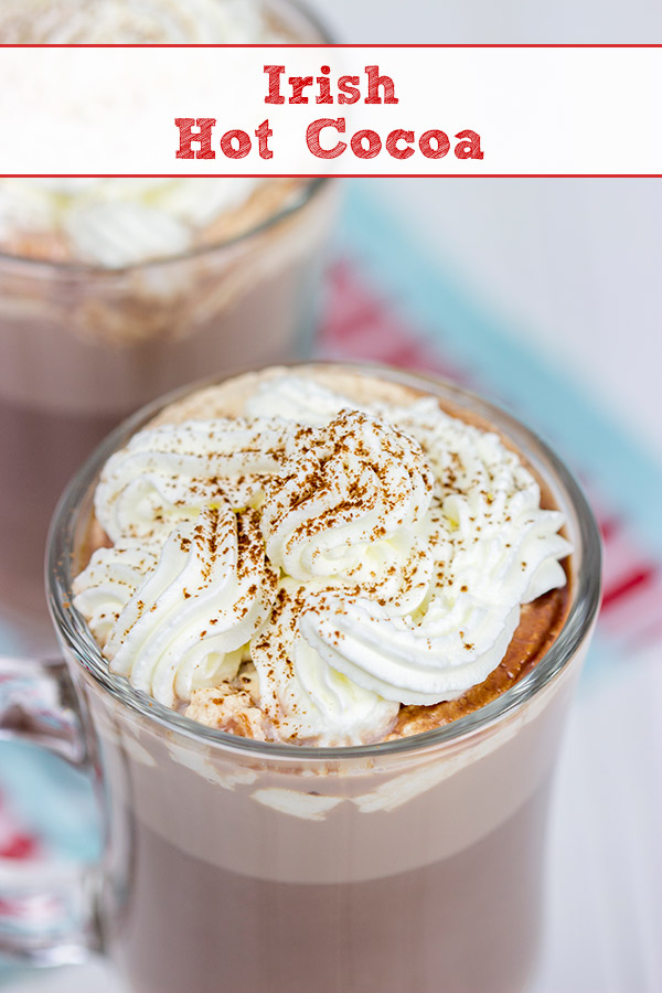 Cheers! Add a splash of Irish Cream to your hot cocoa for a fun and tasty holiday drink!