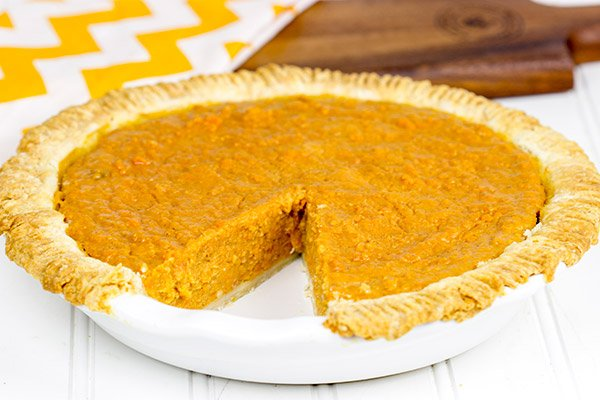 Lightly spiced with cinnamon and nutmeg, this Southern Sweet Potato Pie is a holiday classic!