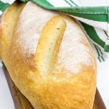 Been thinking about learning to bake bread at home? Then give this classic Homemade Italian Bread a shot!