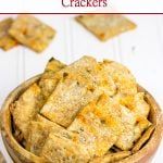 Olive and Roasted Red Pepper Crackers