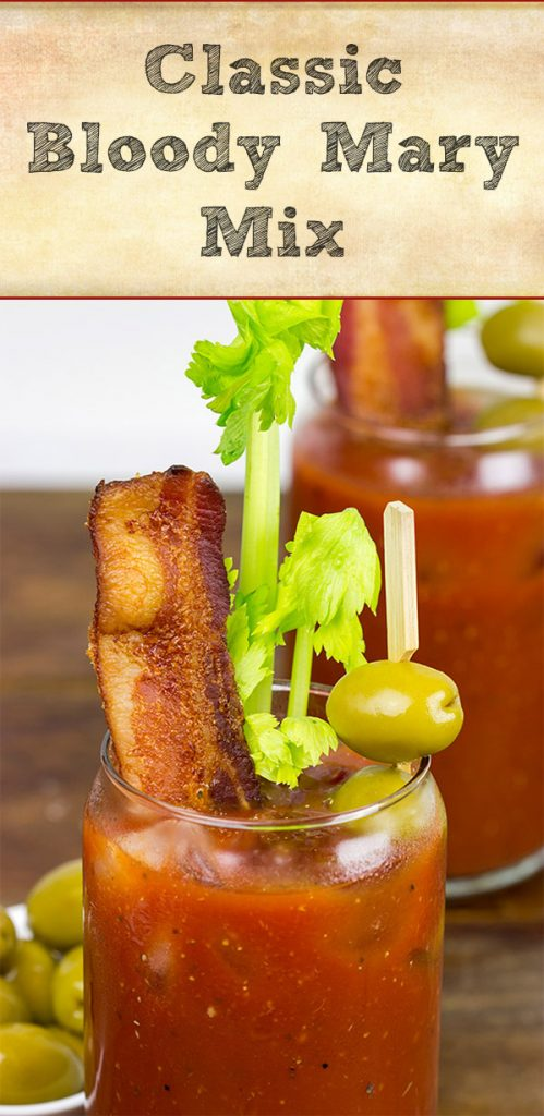 This Classic Bloody Mary Mix is quick and easy to make. Serve up a round of delicious Bloody Marys tomorrow morning!