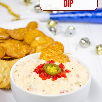 This quick and tasty Southern Pimento Cheese Dip is perfect for cocktail parties or just watching the big game! #WaysToWow