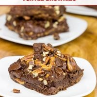 Loaded with chocolate, caramel and pecans, these Chocolate Caramel Turtle Brownies are sure to be a favorite in your house!