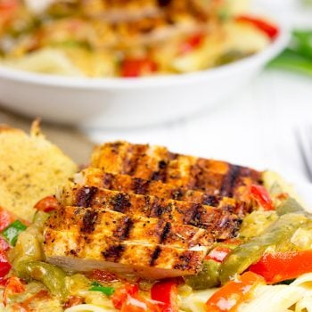 Celebrate Mardi Gras with some delicious Cajun food! This Blackened Chicken Pasta is one of our favorites!