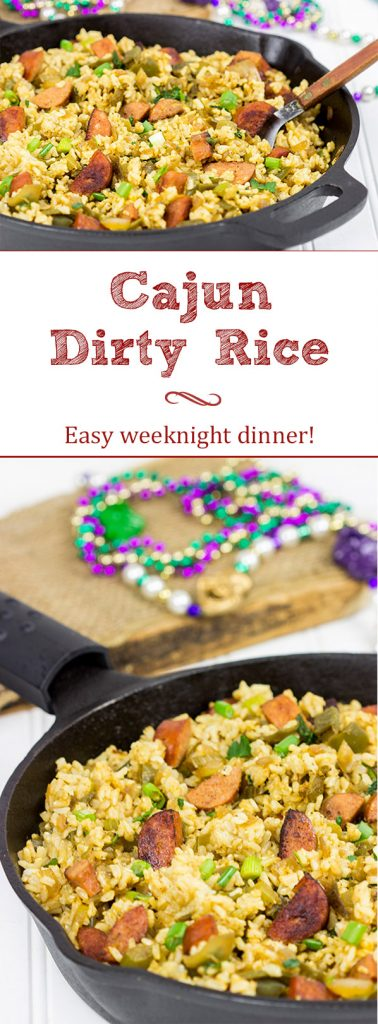 Celebrate Mardi Gras and make your weeknight dinner epic with this Cajun Dirty Rice!