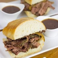This tasty French Dip Sandwich is easier to make than you think...and it makes for one heck of an epic weeknight meal!