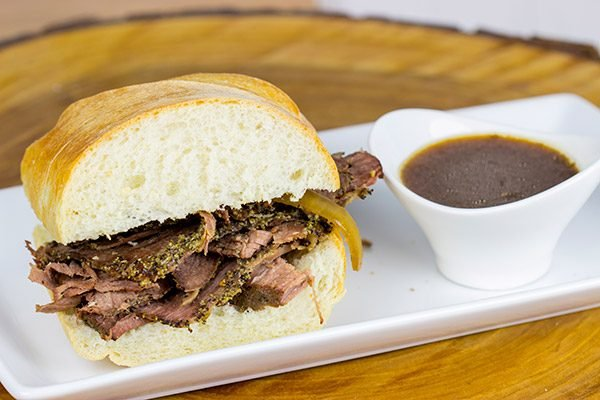 This tasty French Dip Sandwich is easier to make than you think...and it makes for one heck of an epic weeknight meal! #MakeItEpic