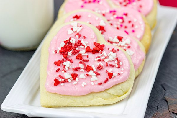 Don't have Cupid's bow and arrows handy? Try using these Frosted Soft Sugar Cookies for Valentine's Day instead!