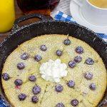 Lemon Blueberry Skillet Pancake