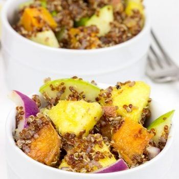 Chase the winter blues away with this tasty (and healthy!) Roasted Sweet Potato and Citrus Quinoa Salad!