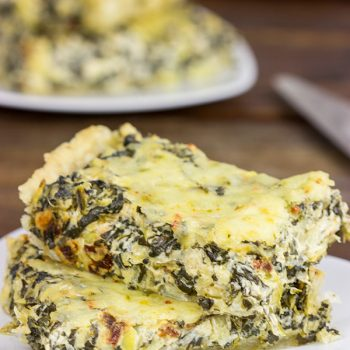 Turn one of your favorite dips into an entree with this tasty Spinach Artichoke Tart!