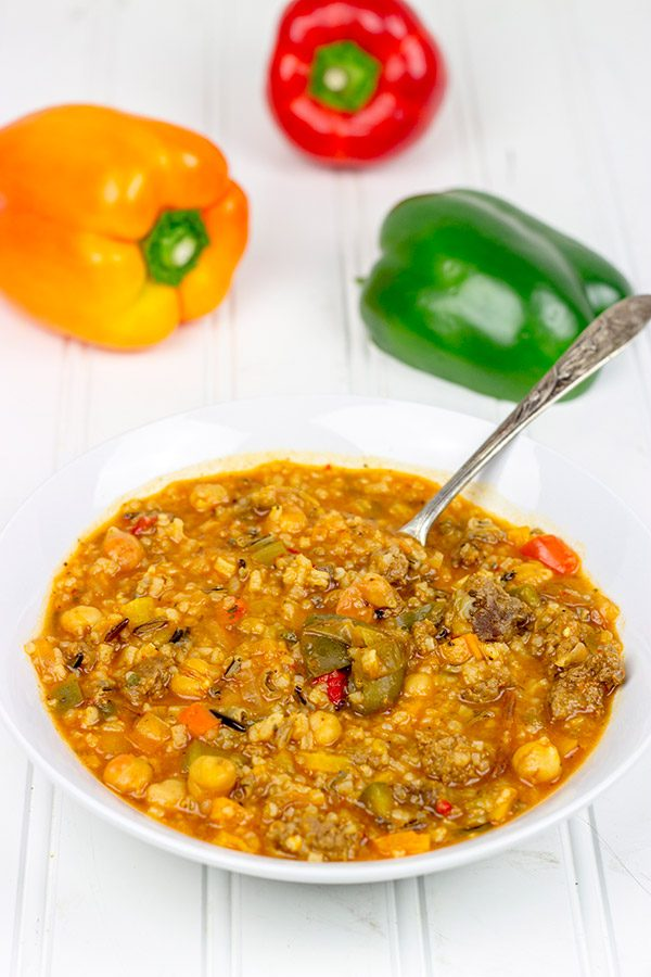 Loaded with bell peppers and seasonings, this Stuffed Pepper Soup is a great way to warm up on a chilly day!