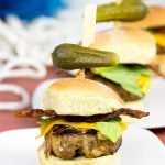 Triple Cheddar Bacon Sliders
