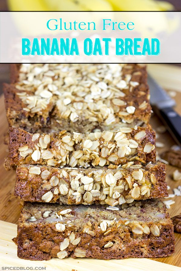 The addition of oats into this classic banana bread recipe yields a delicious Banana Oat Bread that will leave you begging for another slice!
